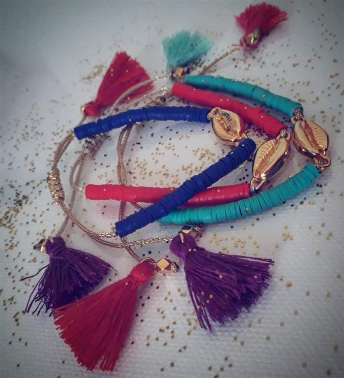 braceletes com franjinhas