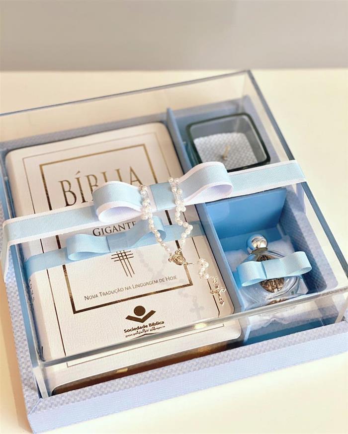 caixa para padrinhos com biblia