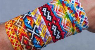 modelos de pulseiras coloridas feitas à mao