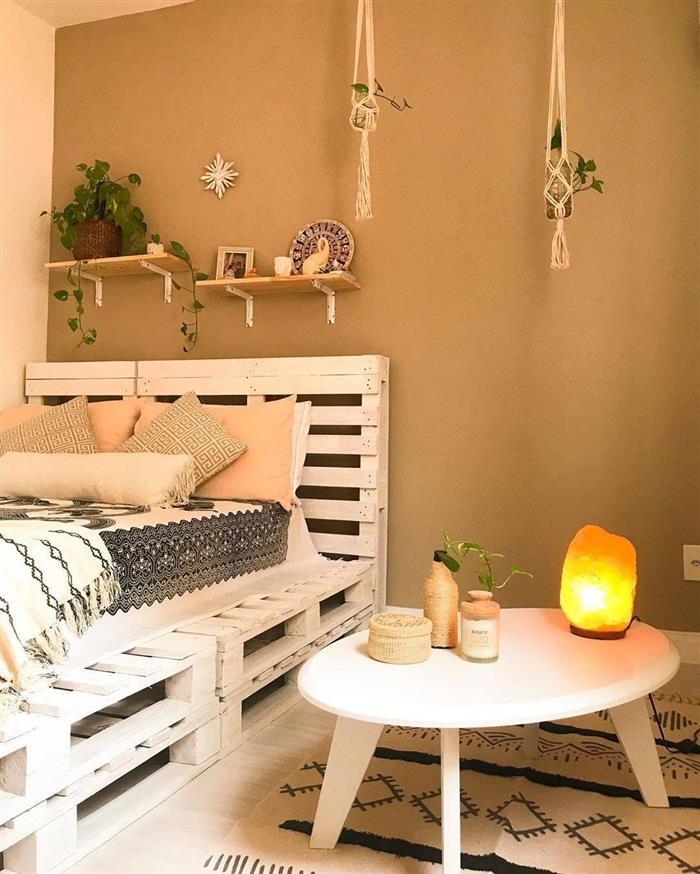 decoração com pallets com pintura