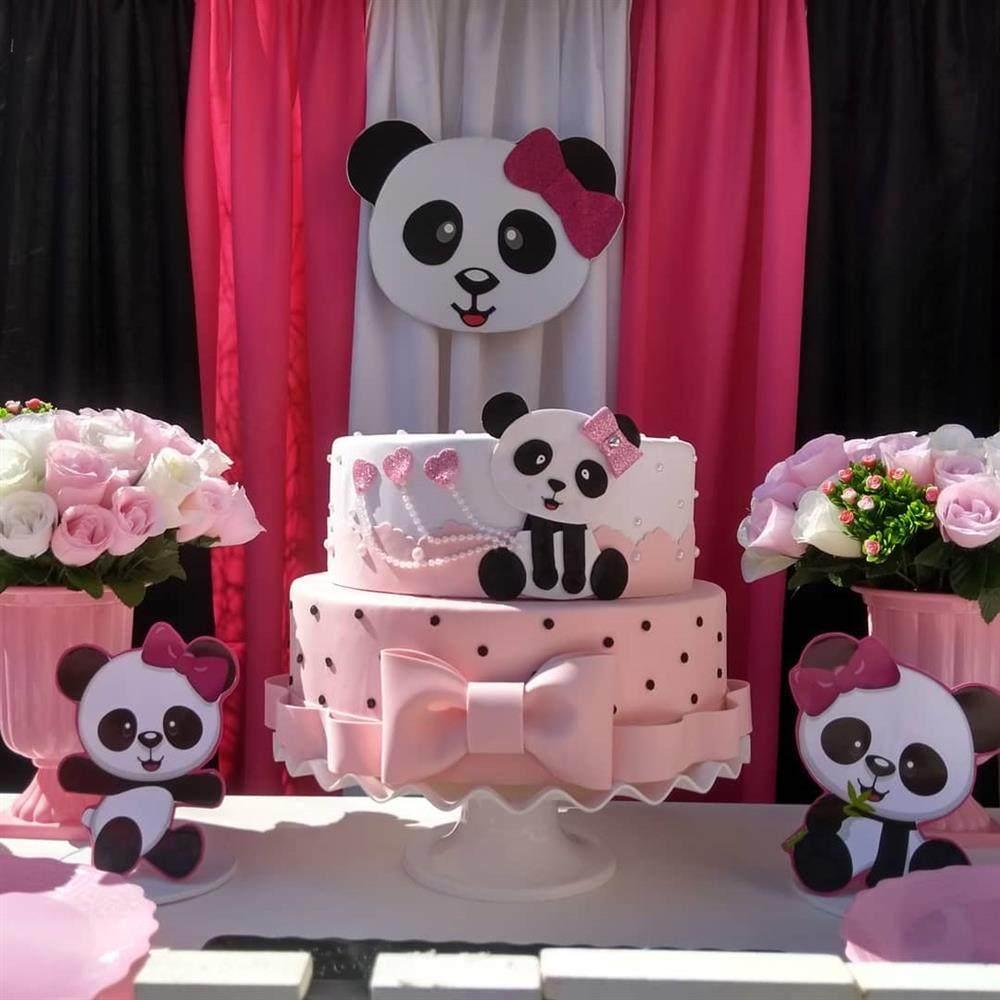 tema panda rosa
