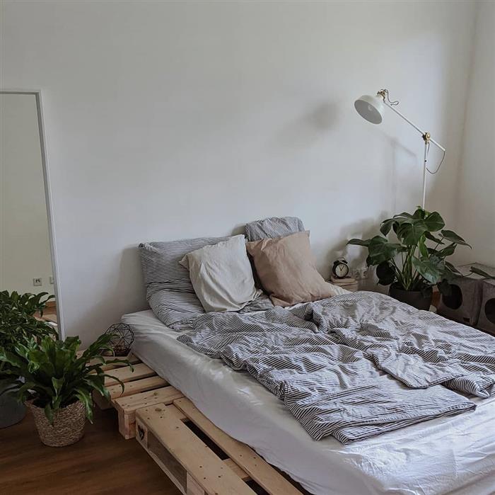 base de cama de paletes