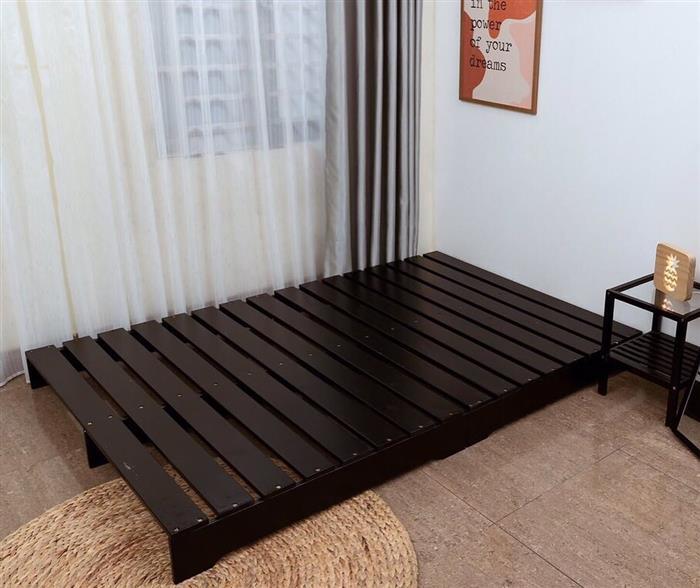 cama simples preta