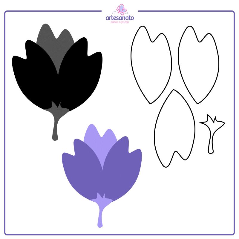 tulipa para imprimir