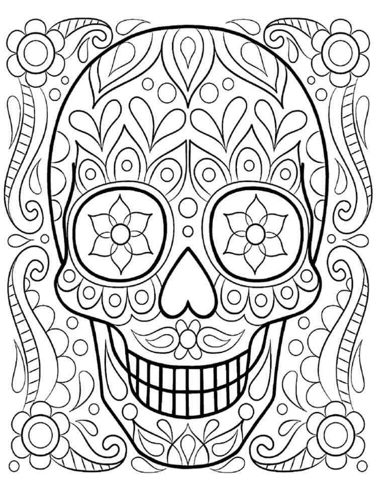 cranio com flores