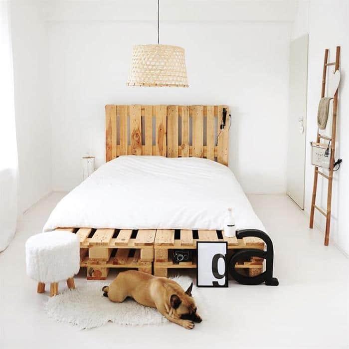 cabeceira de cama de palete