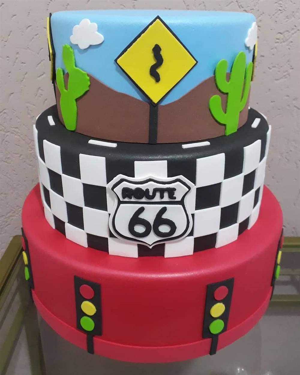 decorado com tema route 66