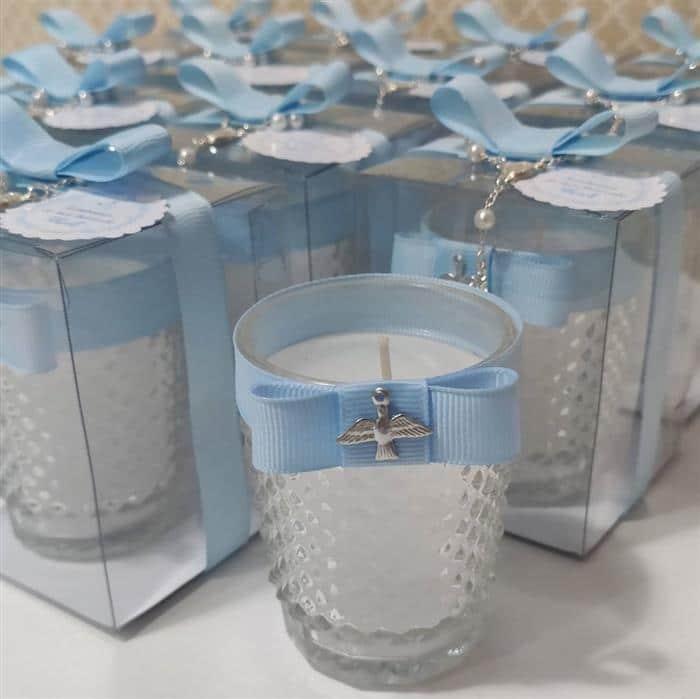 vela decorativa em vidro