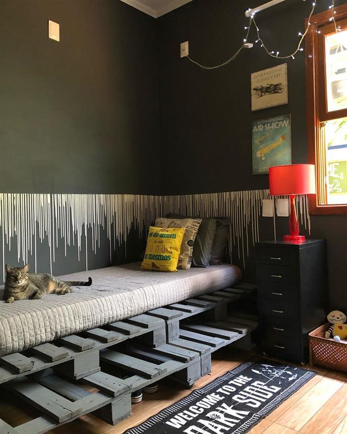 cama de palete para quarto de solteiro