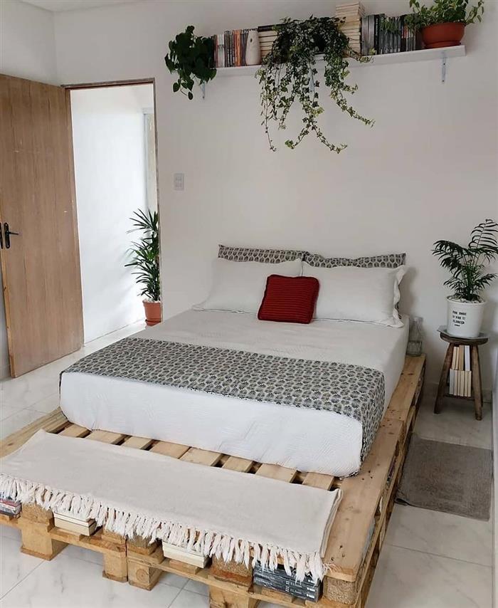 cama de palete pequena
