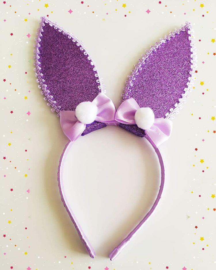 orelha de coelho de eva lilas