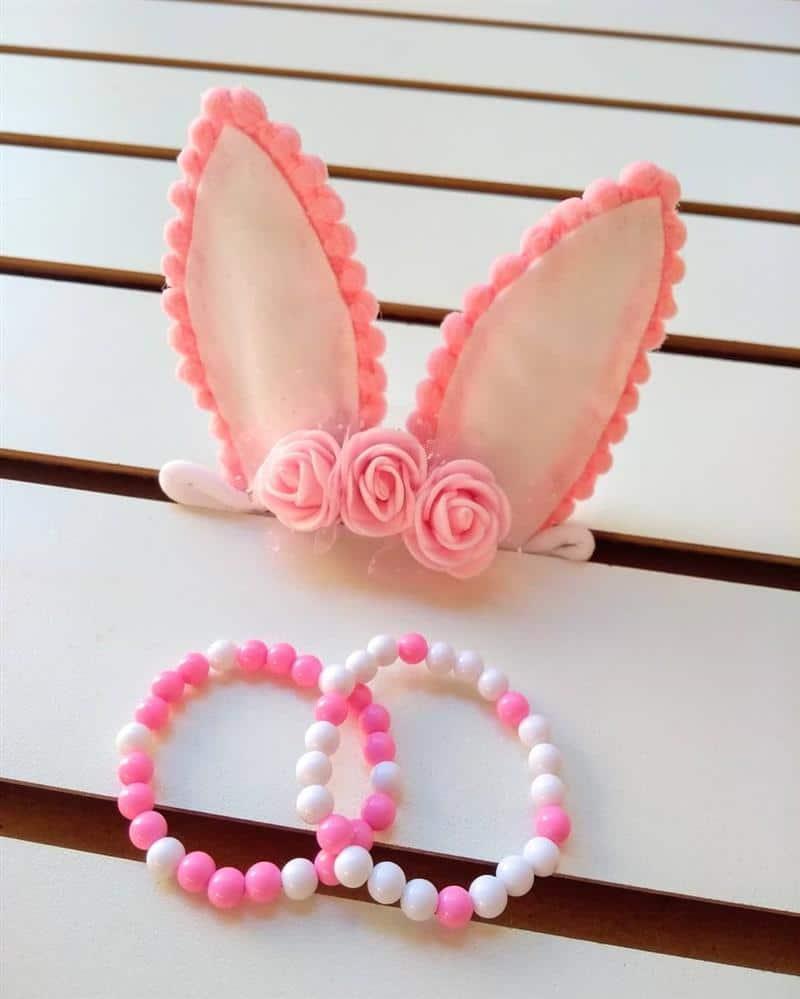 faixa de coelho com flor