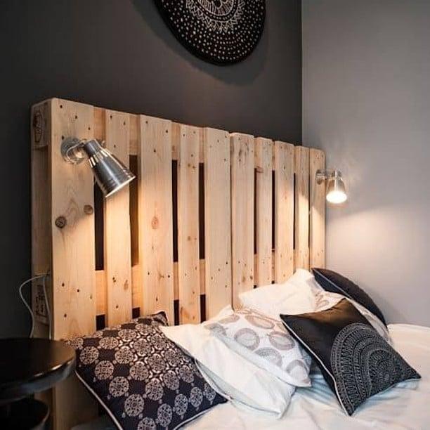 iluminação de cama de paletes
