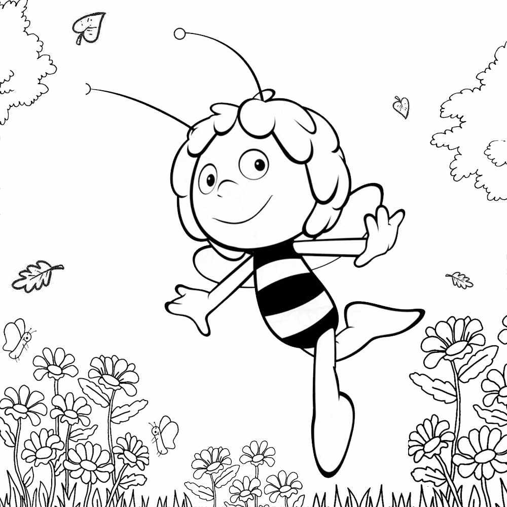 abelha para colorir