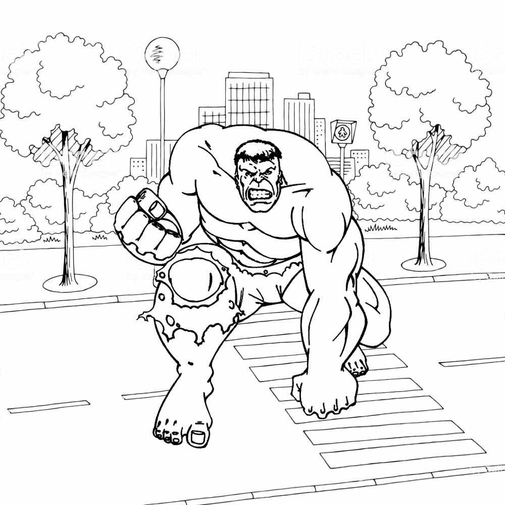 super heroi hulk para colorir
