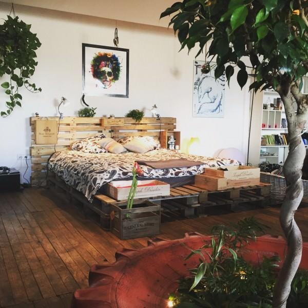 cama rustica e barata