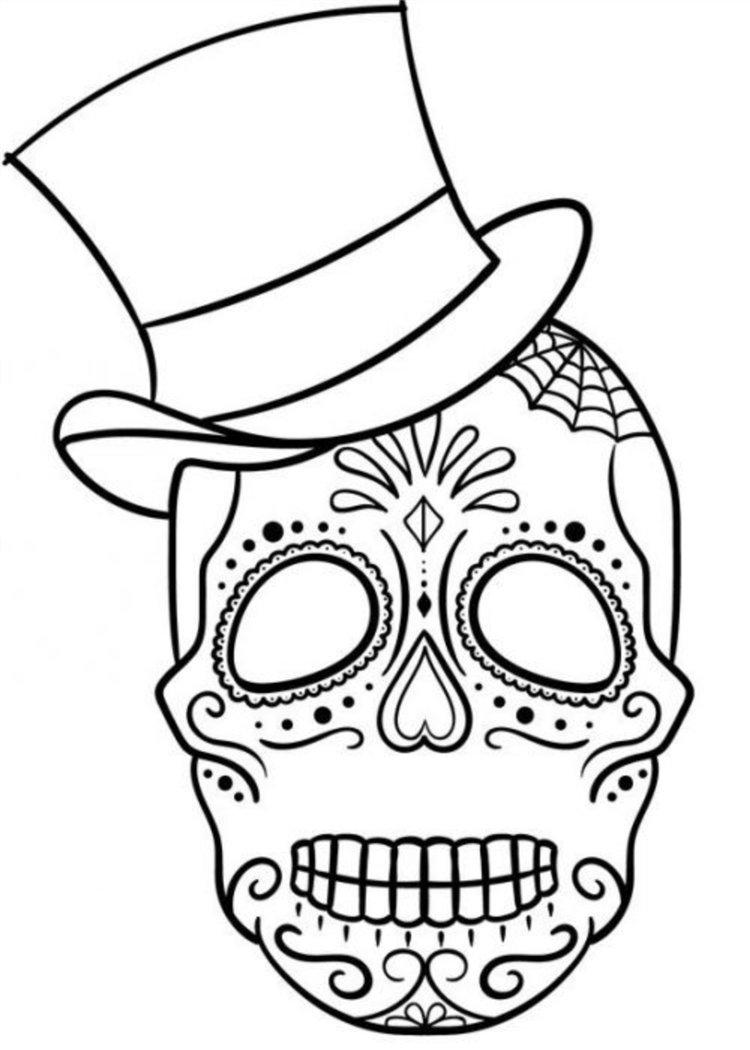 caveira mexicana de chapeu