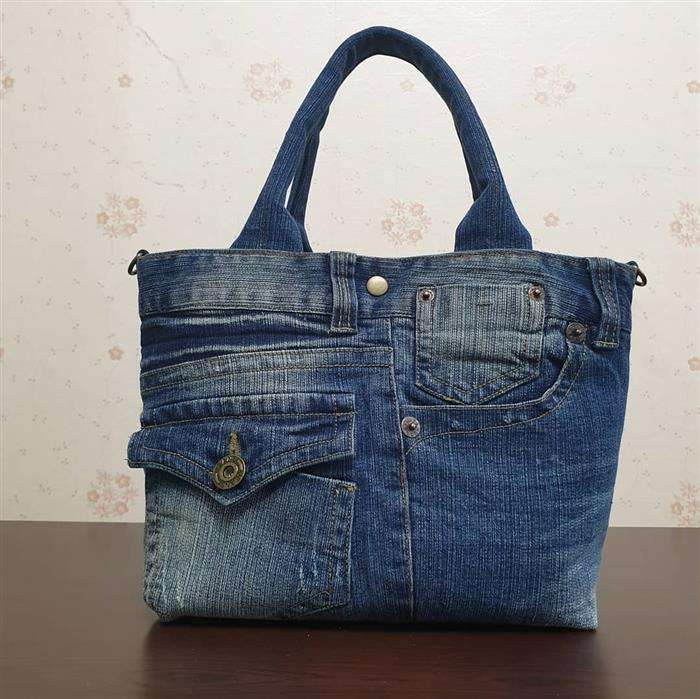 bolsa de jeans reciclado
