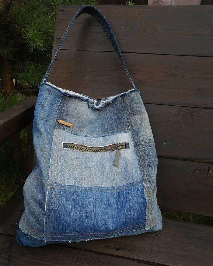 bolsa de jeans usado