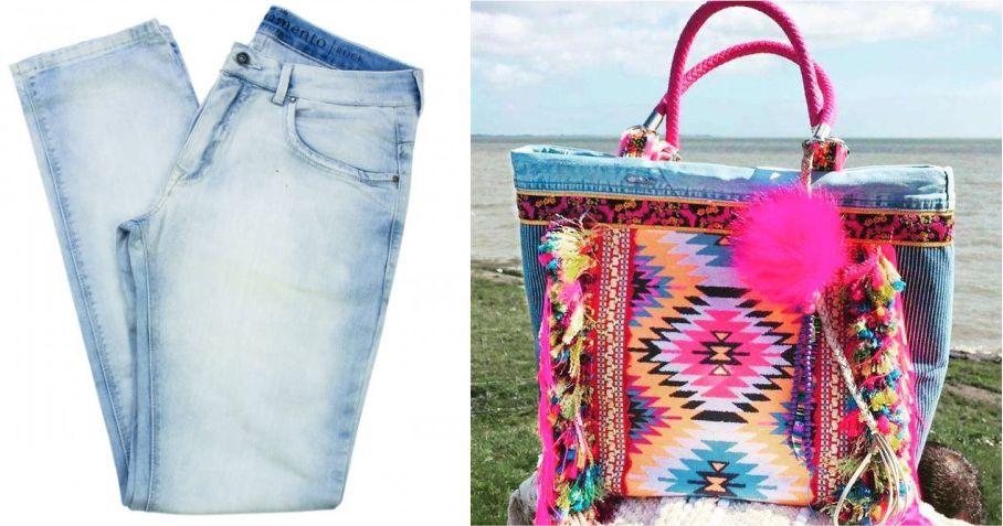 modelos de bolsa jeans personalizadas