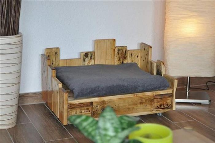 cama de pallet para cachorro