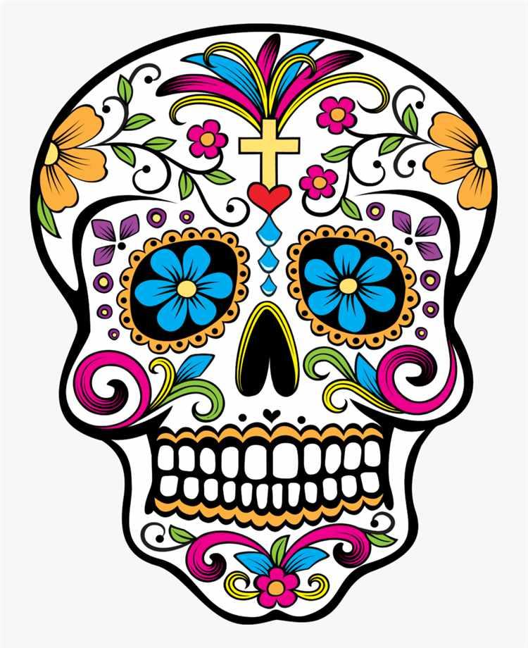 como desenhar uma caveira mexicana