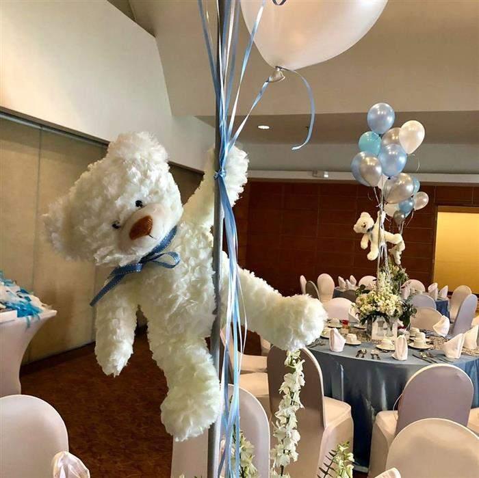 centro de mesa com balão inflavel