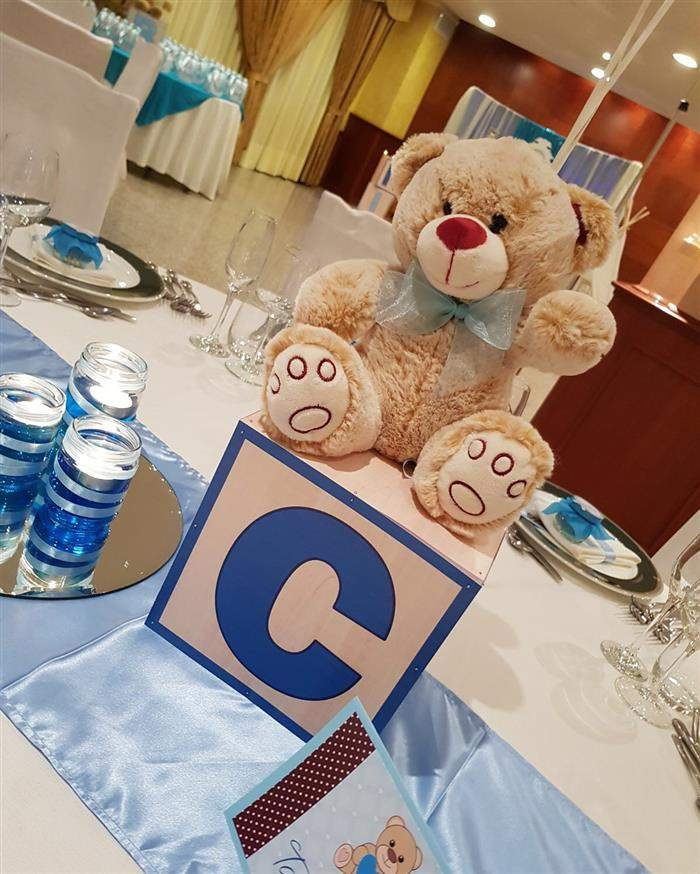 centro de mesa com ursinho fofo