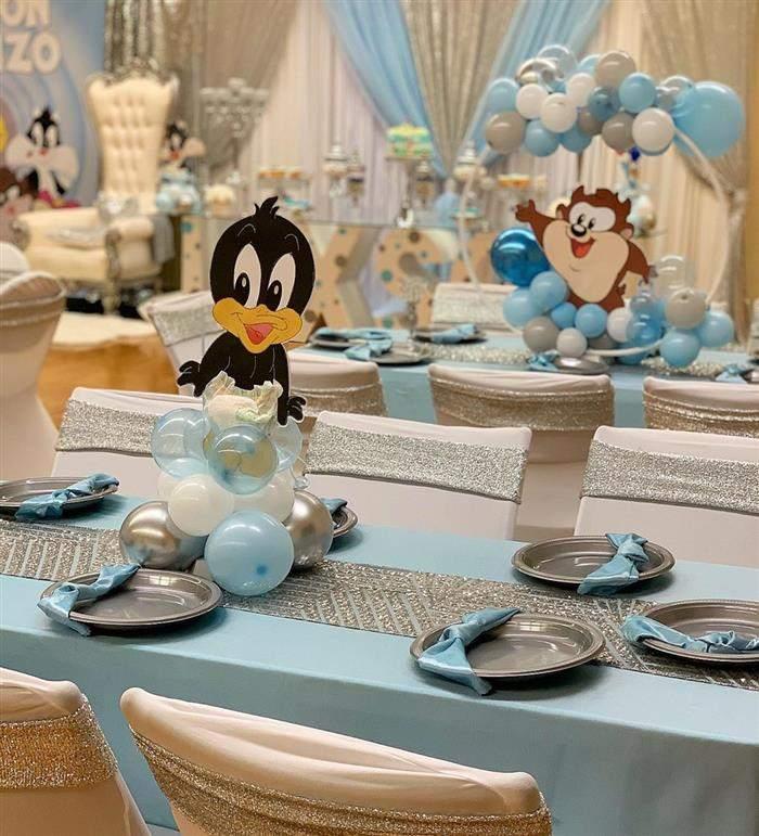 centro de mesa para cha de bebe com baloes