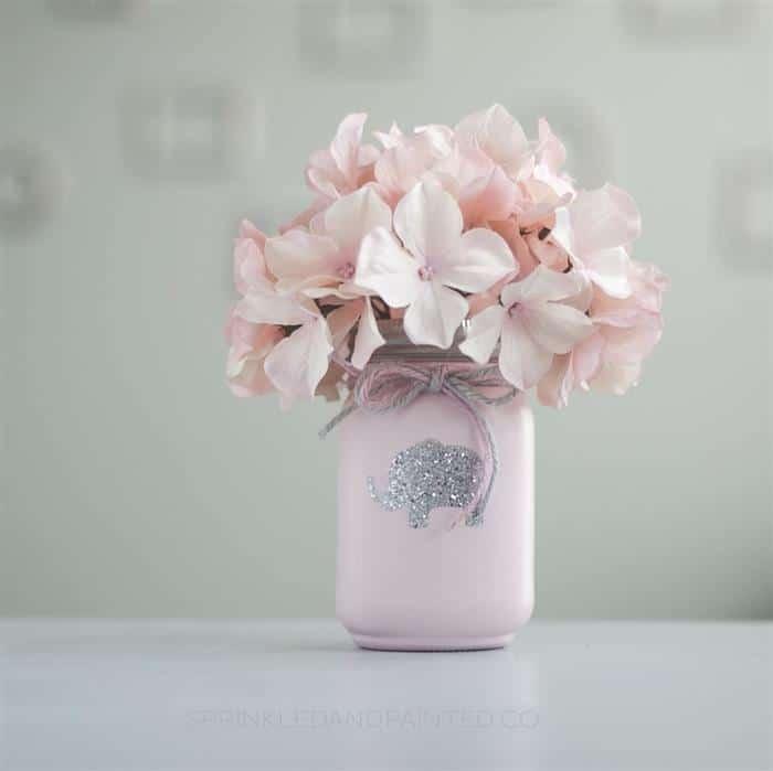 cha de bebe com flores