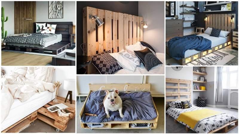 cama de palete de madeira