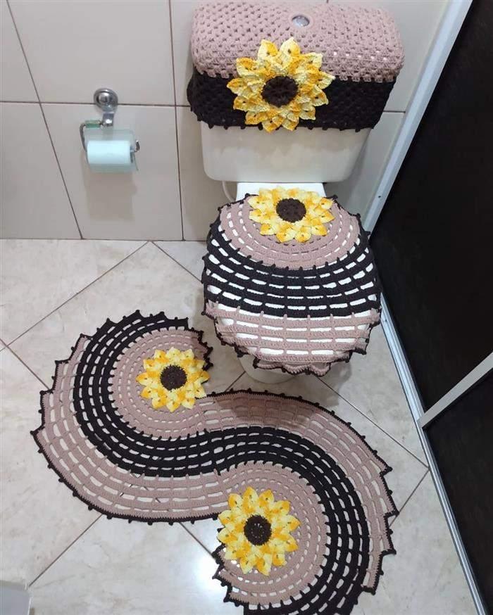 conjunto de banheiro espiral