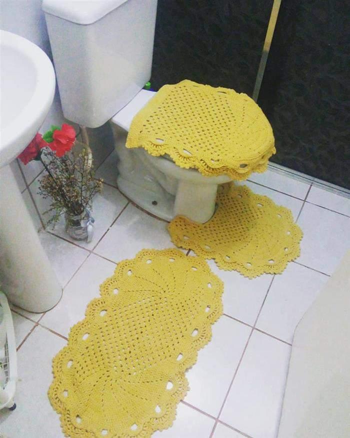 conjunto de banheiro simples