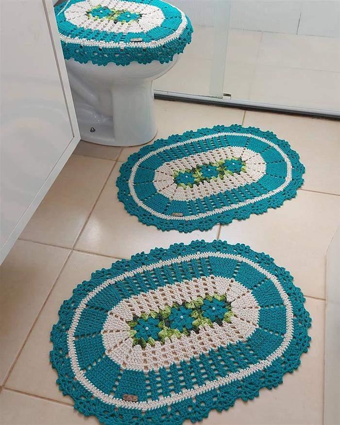 conjunto de banheiro tapete