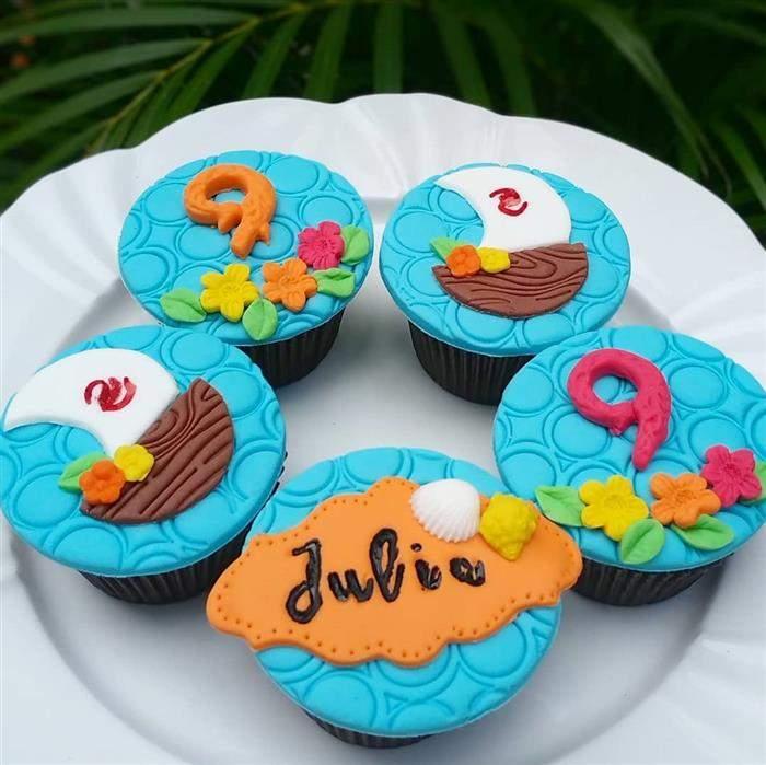 cupcake personalizado moana