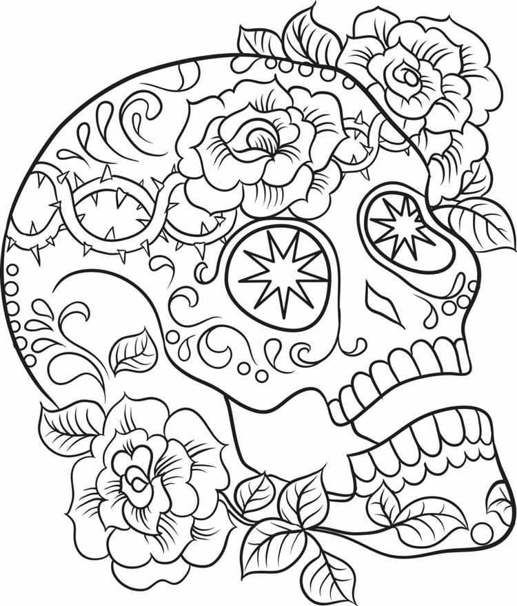 caveira mexicana com flores