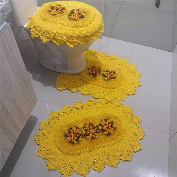 decoração amarelo para banheiro