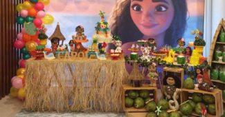 decoração festa moana