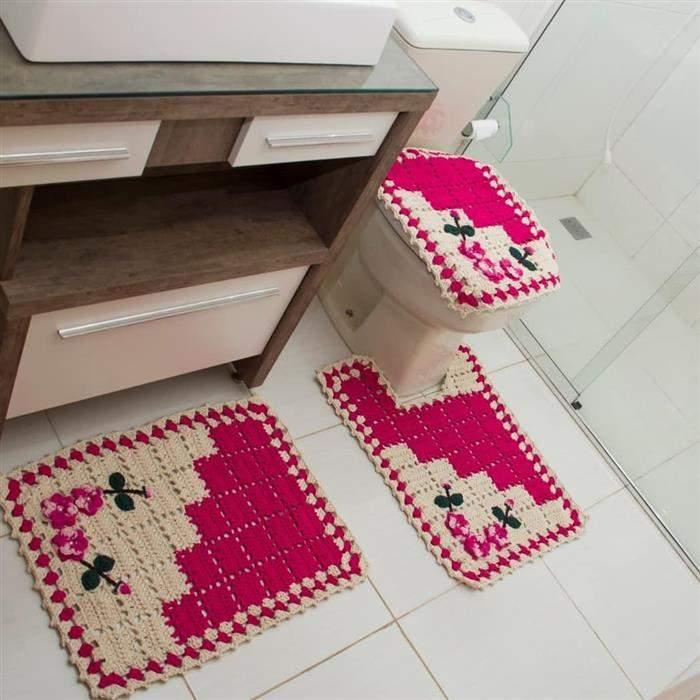 decoração rosa pink para banheiro