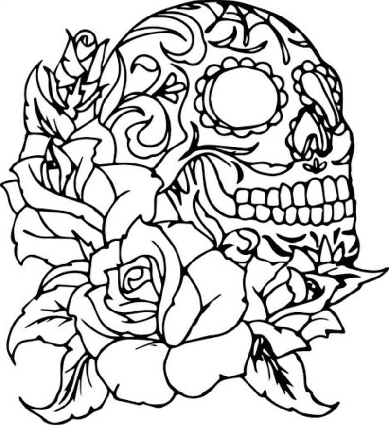 desenho simples com rosas