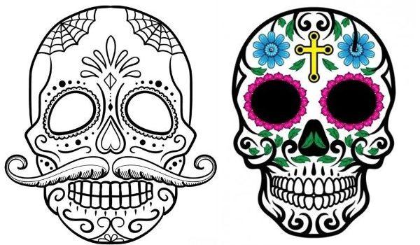 desenho de caveira mexicana para tatuagem