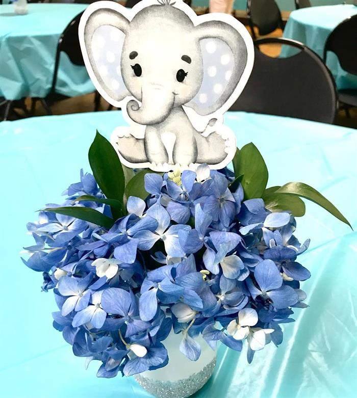 elefantinho com flores