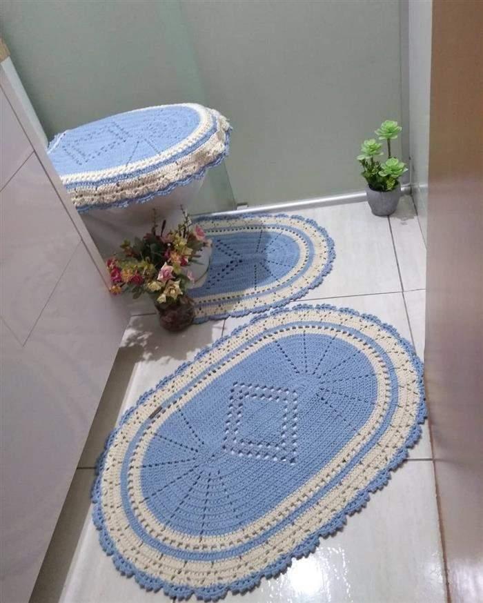jogo azul para banheiro