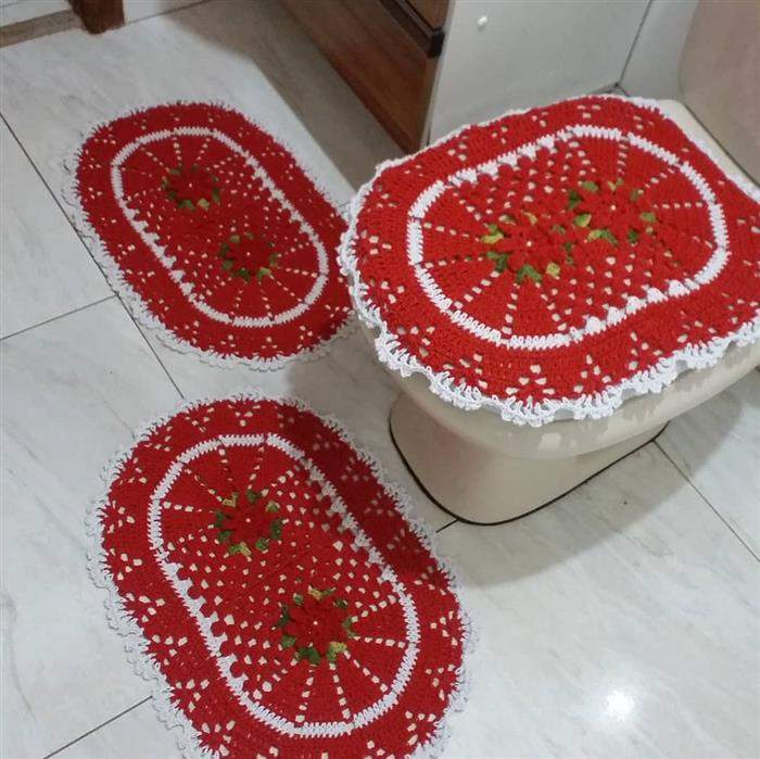 joguinho vermelho de banheiro