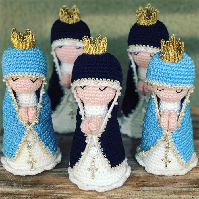 Amigurumi Nossa Senhora Aparecida e Virgem Maria