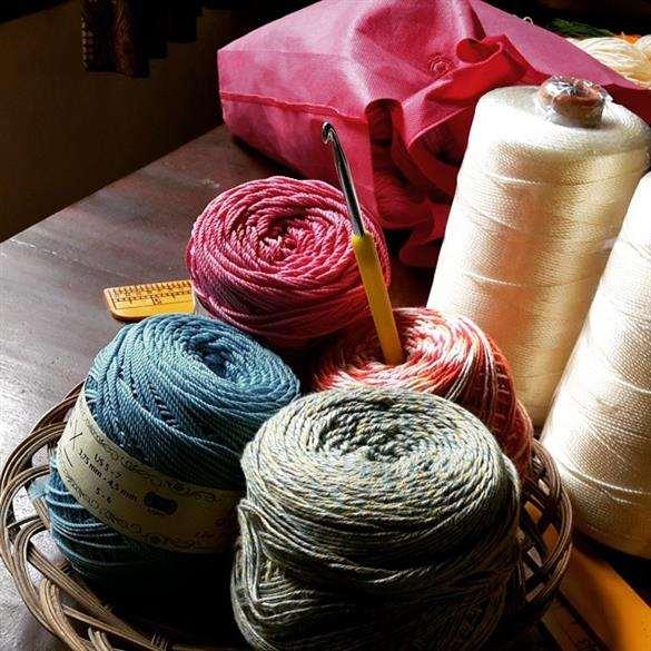 materiais para crochê
