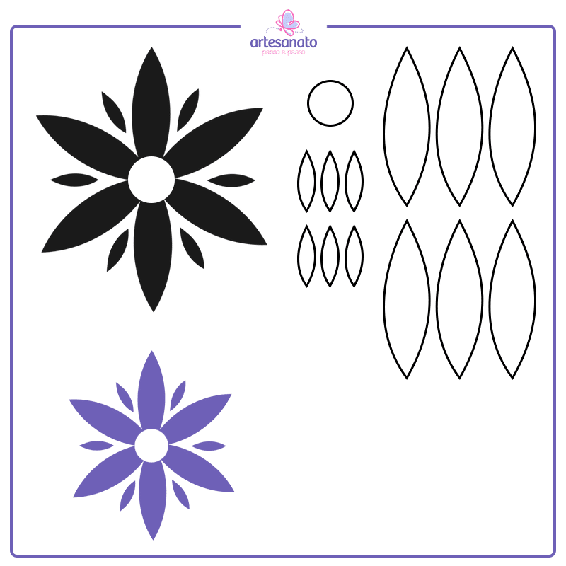 medidas de flores