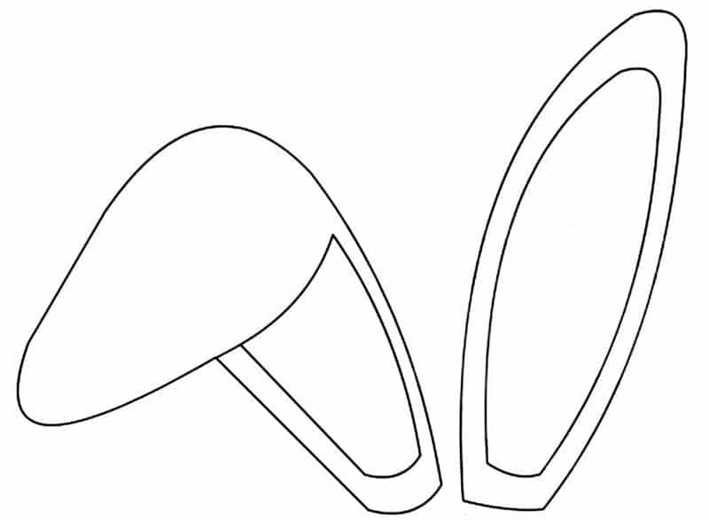 molde de orelha de coelho caida