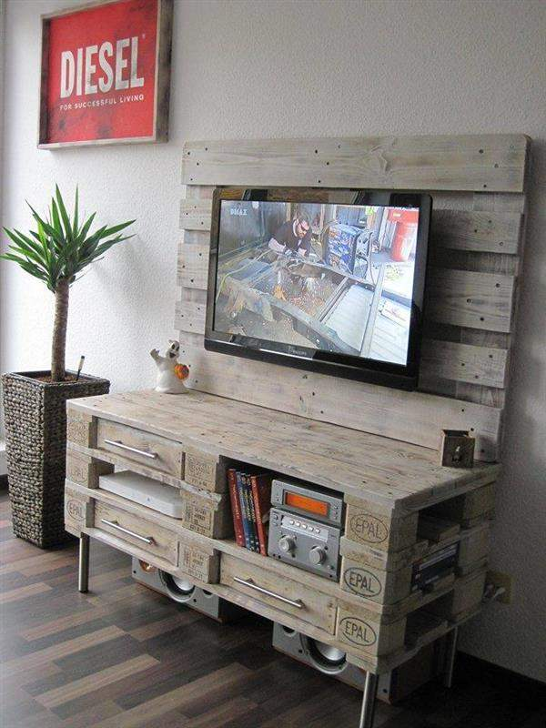 pallet-media-console-table