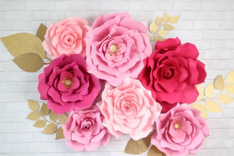 painel de flores gigantes